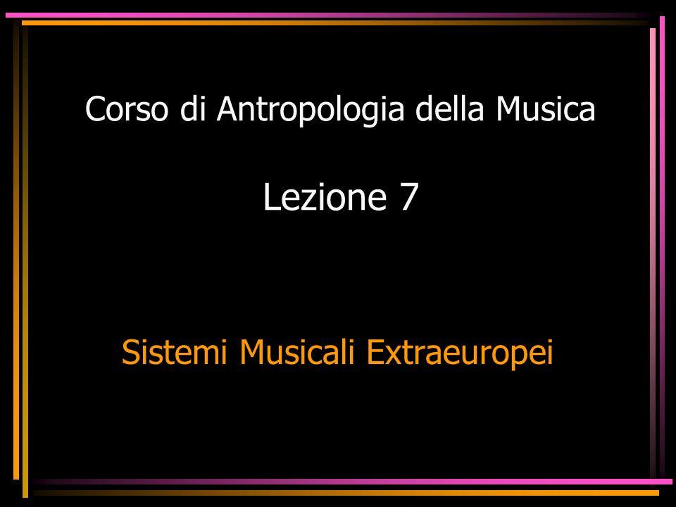Corso di Antropologia della Musica Lezione 7