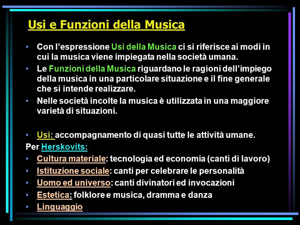 Usi e Funzioni della Musica