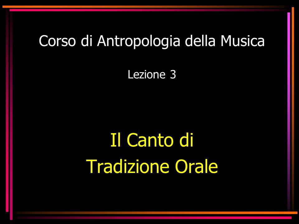 Corso di Antropologia della Musica Lezione 3