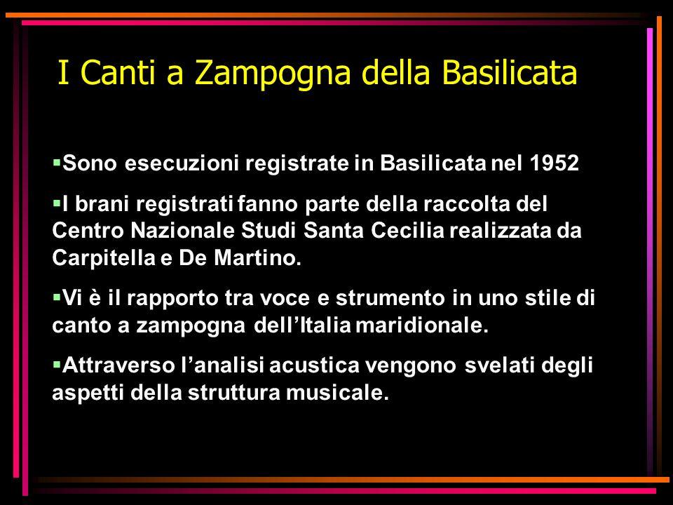 I Canti a Zampogna della Basilicata