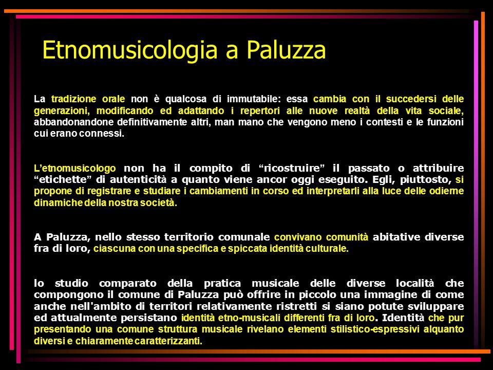 Etnomusicologia a Paluzza