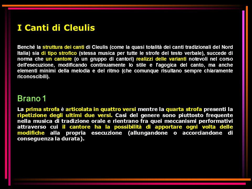 I Canti di Cleulis Brano 1