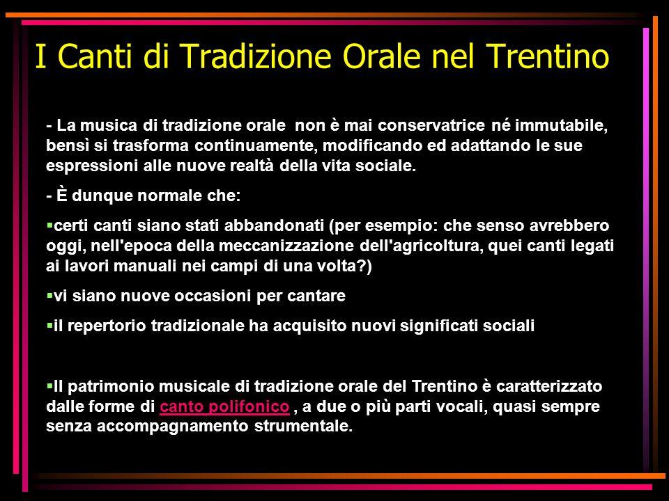 I Canti di Tradizione Orale nel Trentino