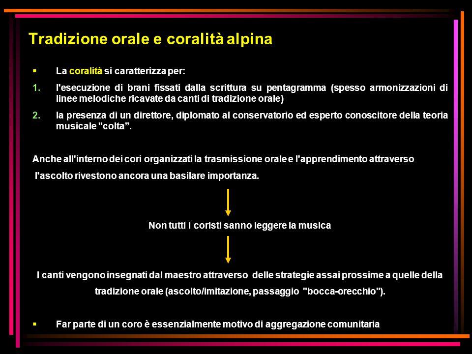 Tradizione orale e coralità alpina