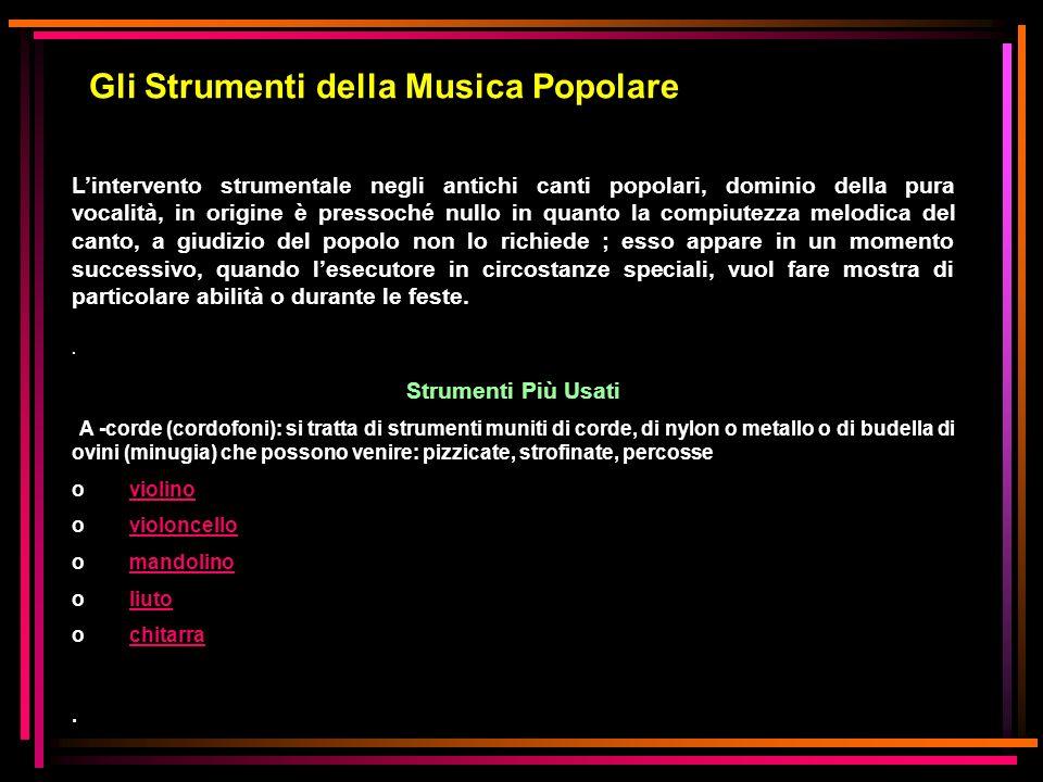 Gli Strumenti della Musica Popolare