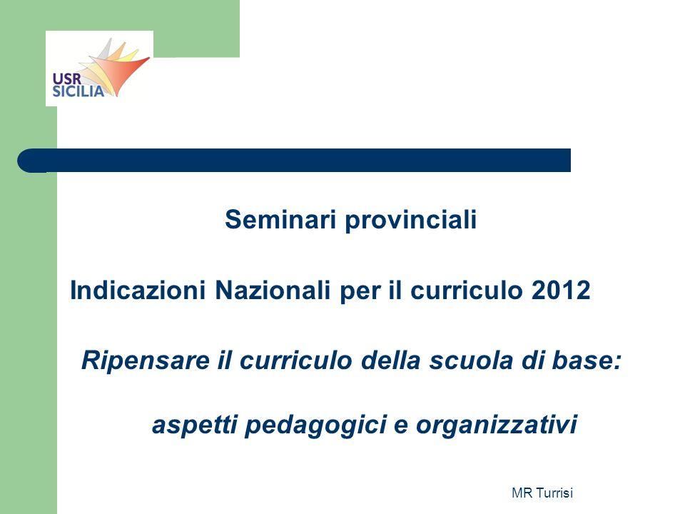 Indicazioni Nazionali per il curriculo 2012