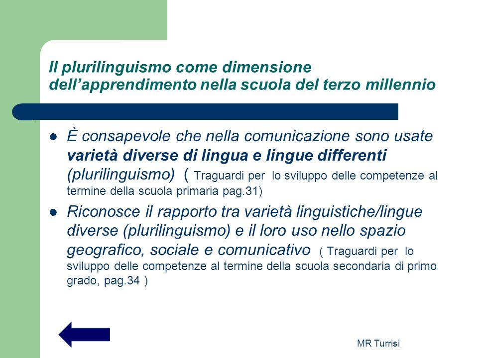 Il plurilinguismo come dimensione dell'apprendimento nella scuola del terzo millennio