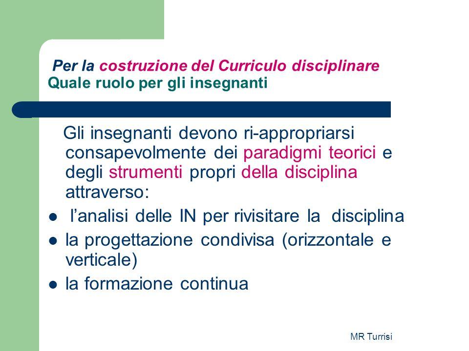 l'analisi delle IN per rivisitare la disciplina