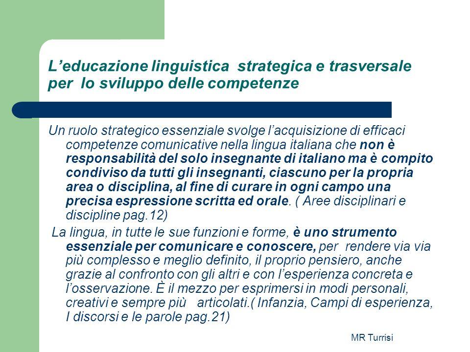 L'educazione linguistica strategica e trasversale per lo sviluppo delle competenze