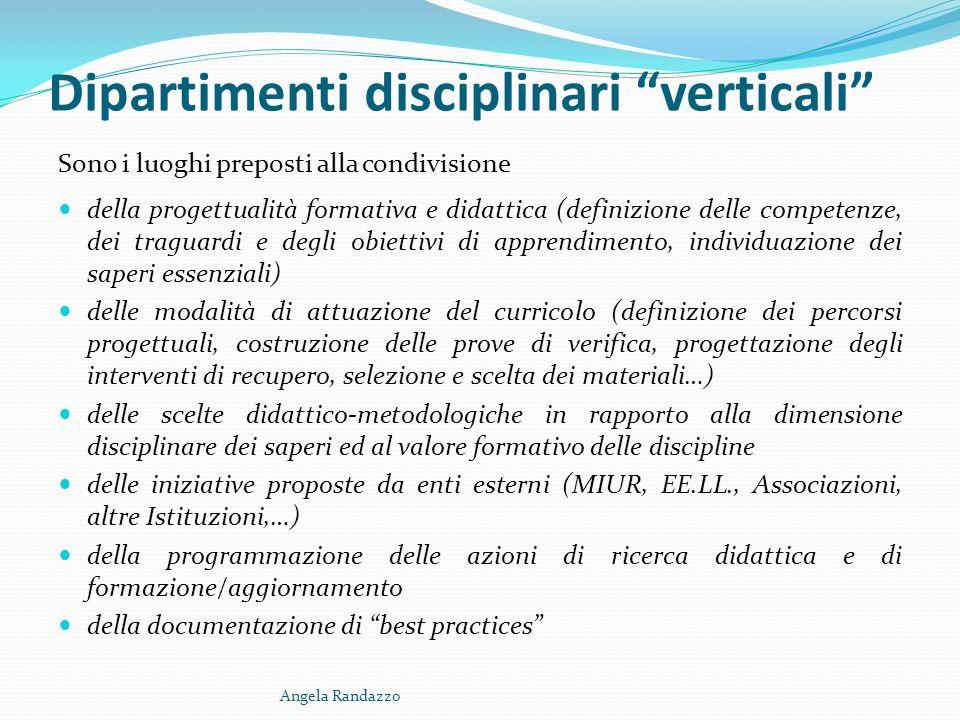 Dipartimenti disciplinari verticali