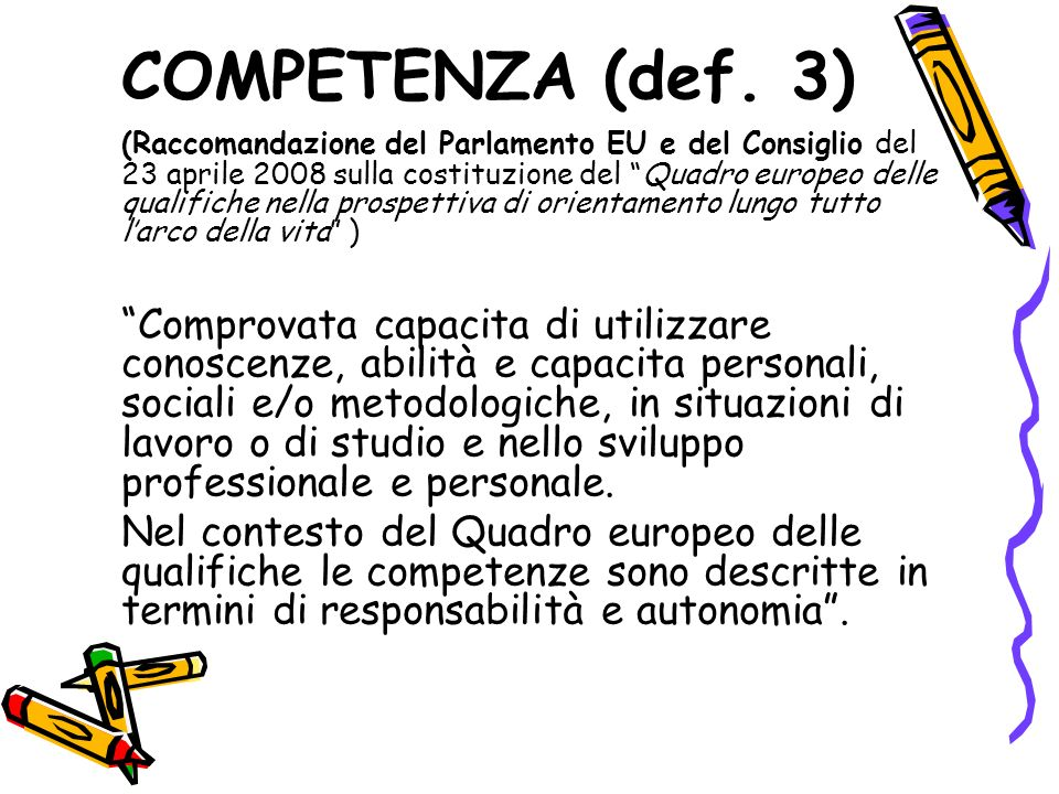 COMPETENZA (def. 3)