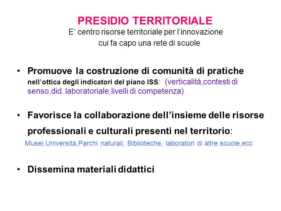 PRESIDIO TERRITORIALE E' centro risorse territoriale per l'innovazione