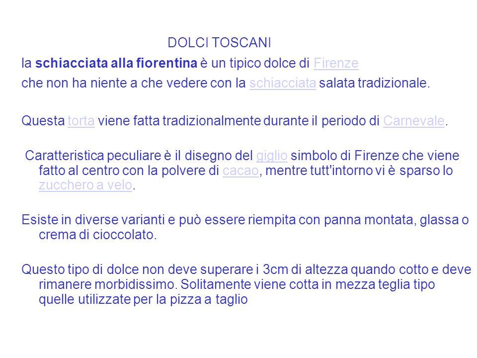 la schiacciata alla fiorentina è un tipico dolce di Firenze