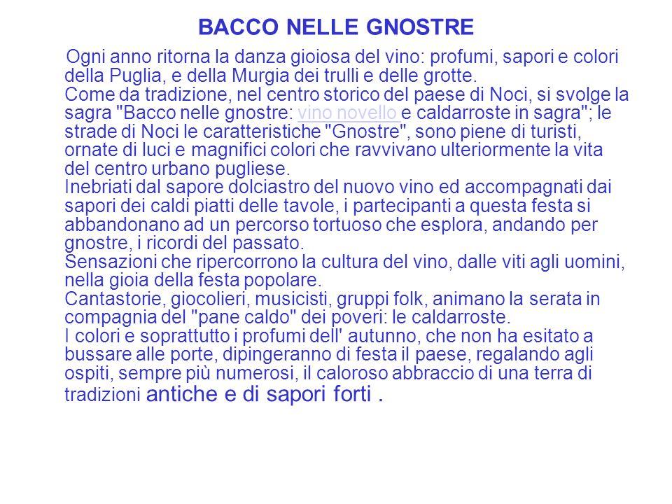 BACCO NELLE GNOSTRE
