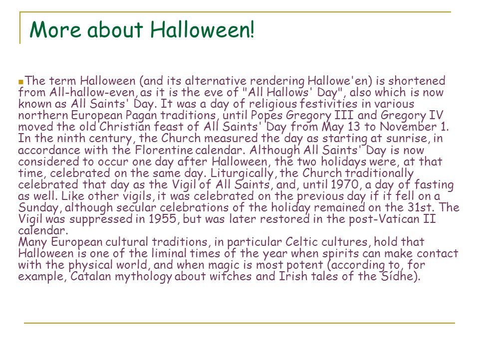 More about Halloween!