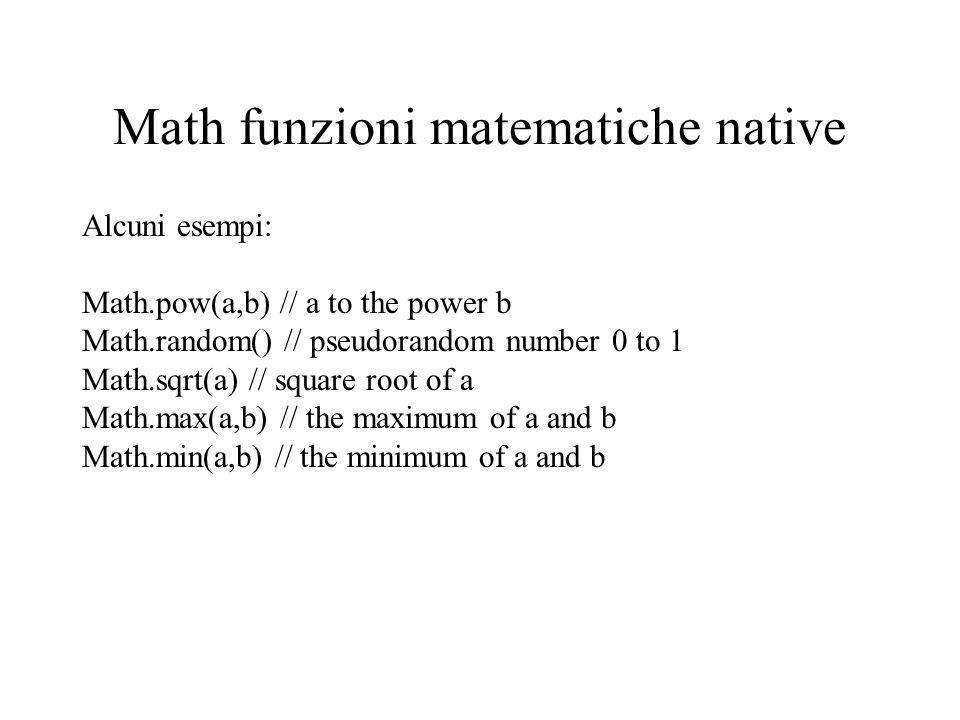 Math funzioni matematiche native
