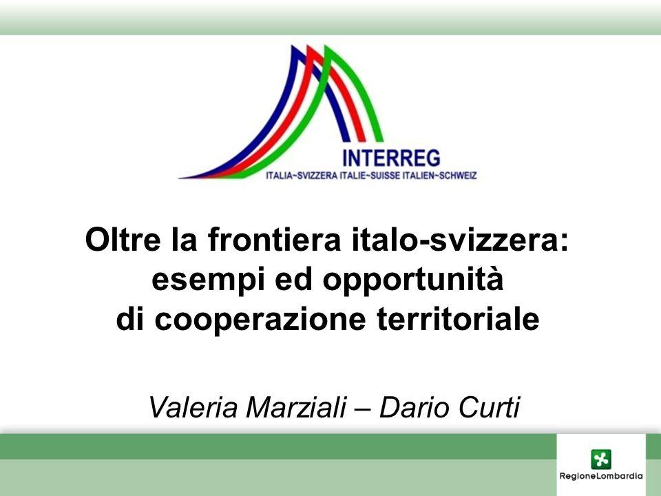 Oltre la frontiera italo-svizzera: di cooperazione territoriale