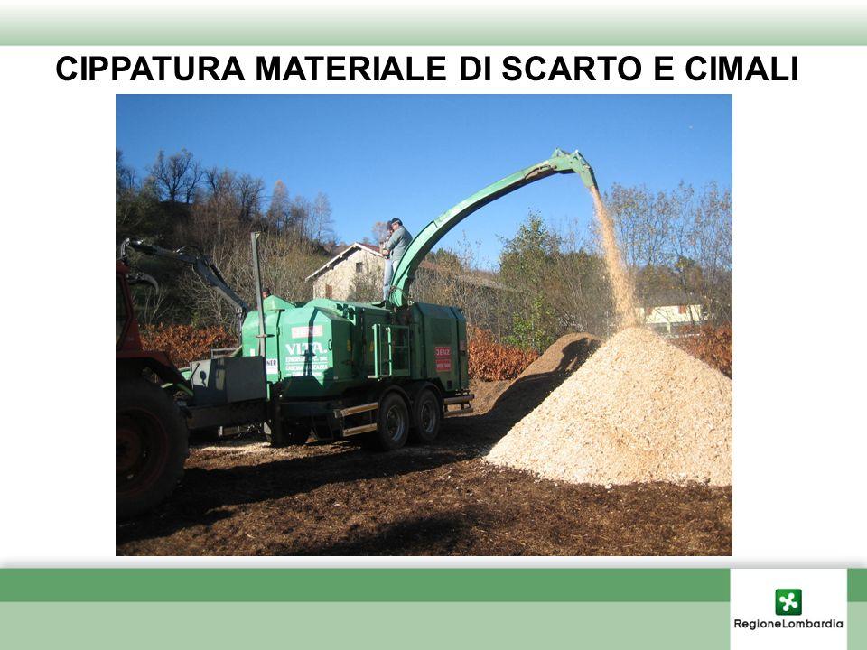 CIPPATURA MATERIALE DI SCARTO E CIMALI
