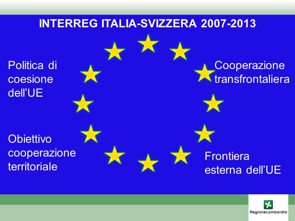 INTERREG ITALIA-SVIZZERA 2007-2013