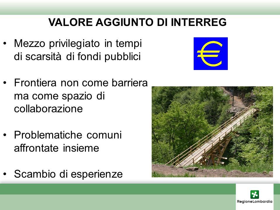 VALORE AGGIUNTO DI INTERREG