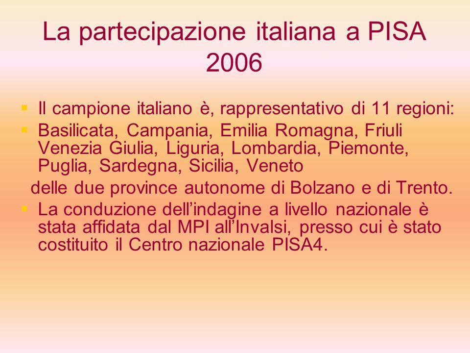 La partecipazione italiana a PISA 2006