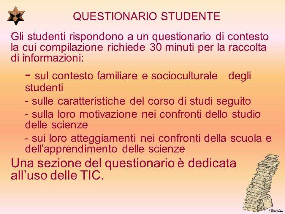 QUESTIONARIO STUDENTE