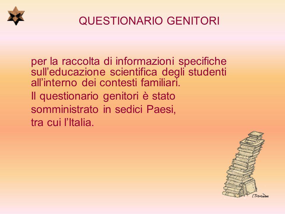 QUESTIONARIO GENITORI