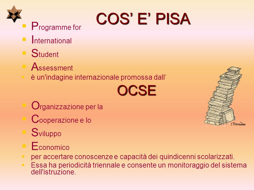 COS' E' PISA OCSE Programme for International Student Assessment