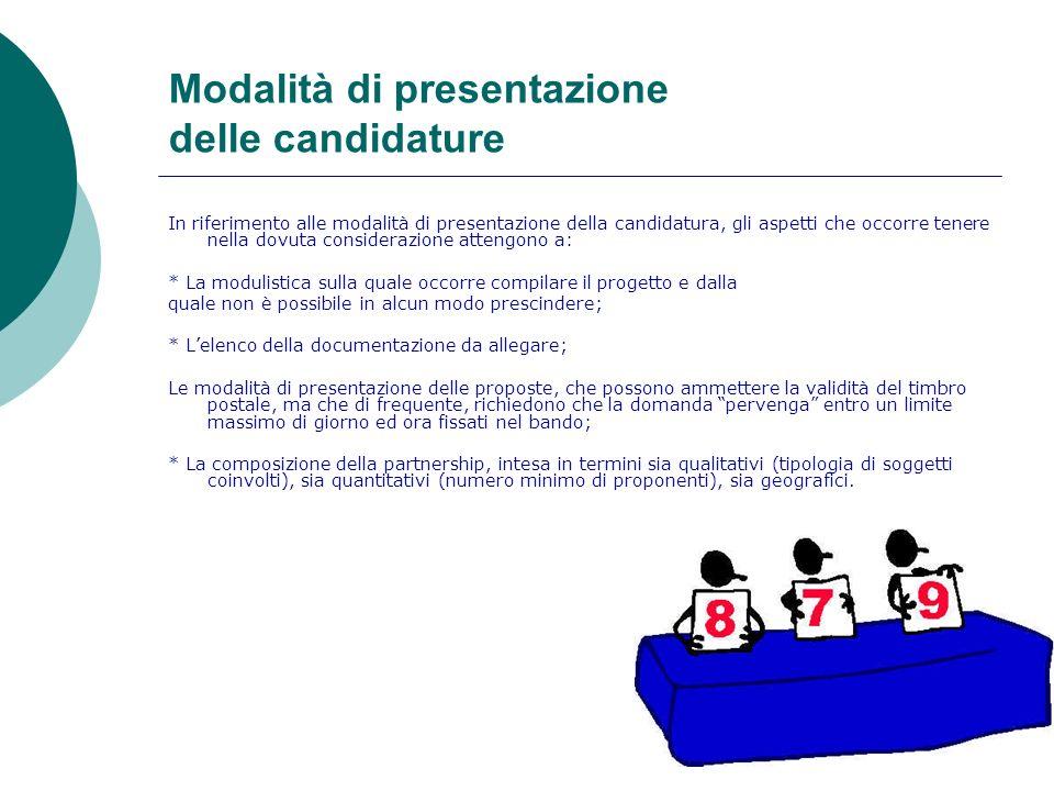 Modalità di presentazione delle candidature