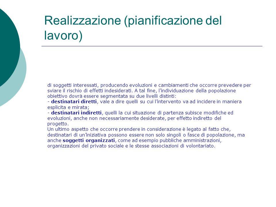 Realizzazione (pianificazione del lavoro)