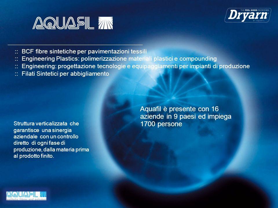 Aquafil è presente con 16 aziende in 9 paesi ed impiega 1700 persone