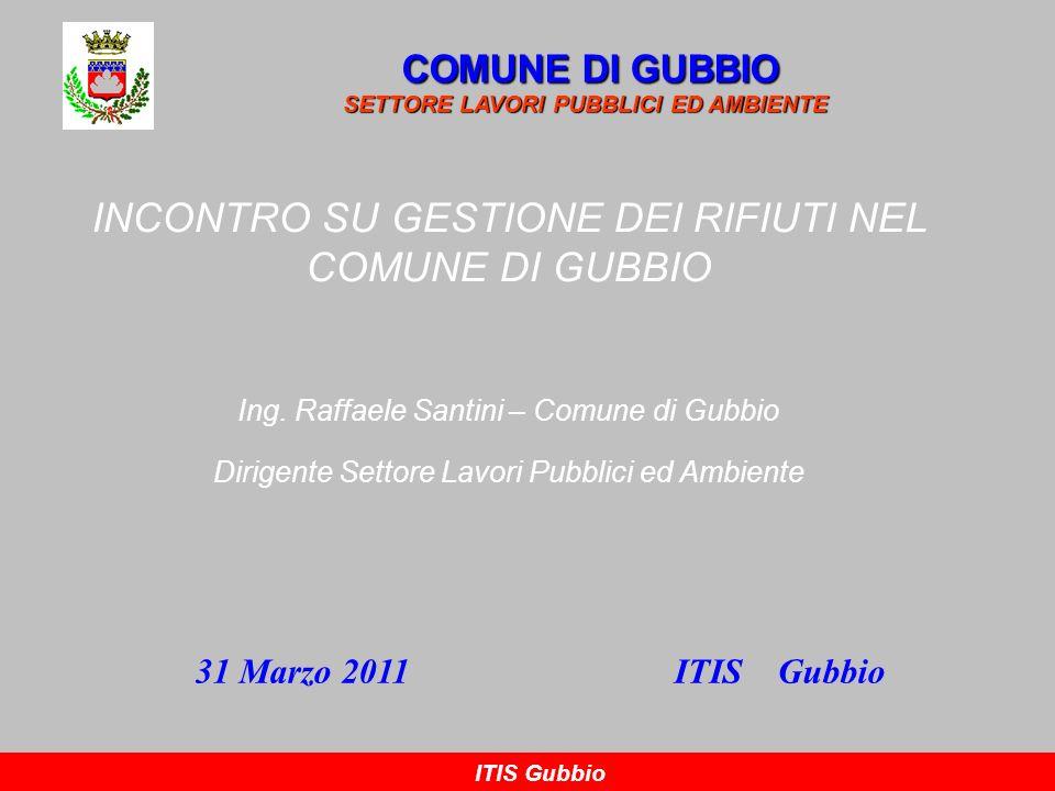 INCONTRO SU GESTIONE DEI RIFIUTI NEL COMUNE DI GUBBIO