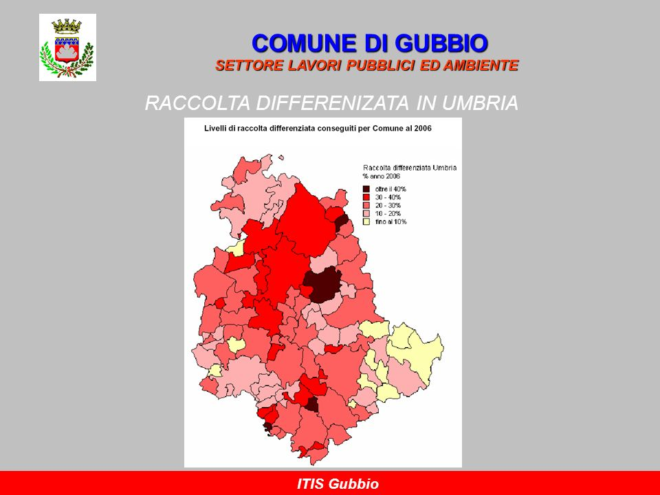 RACCOLTA DIFFERENIZATA IN UMBRIA