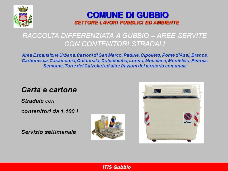 COMUNE DI GUBBIO Carta e cartone