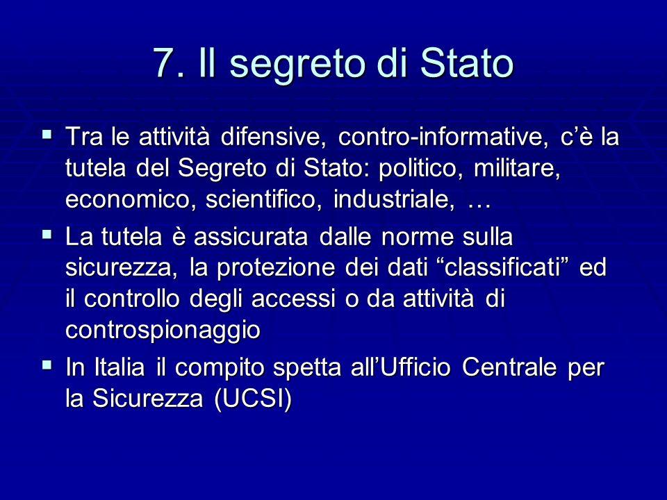 7. Il segreto di Stato