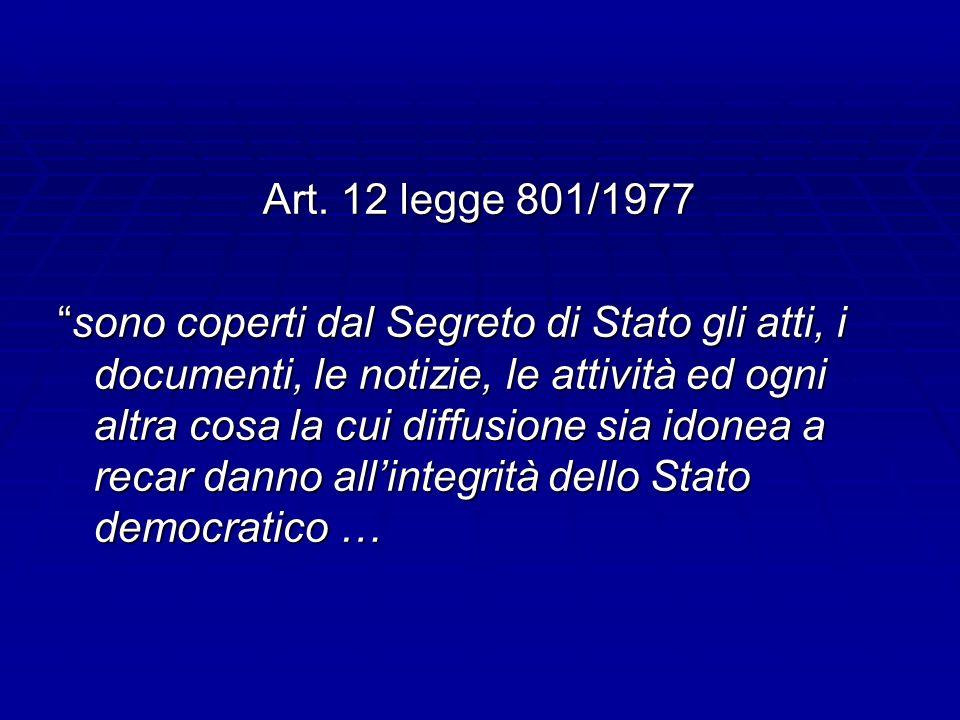 Art. 12 legge 801/1977