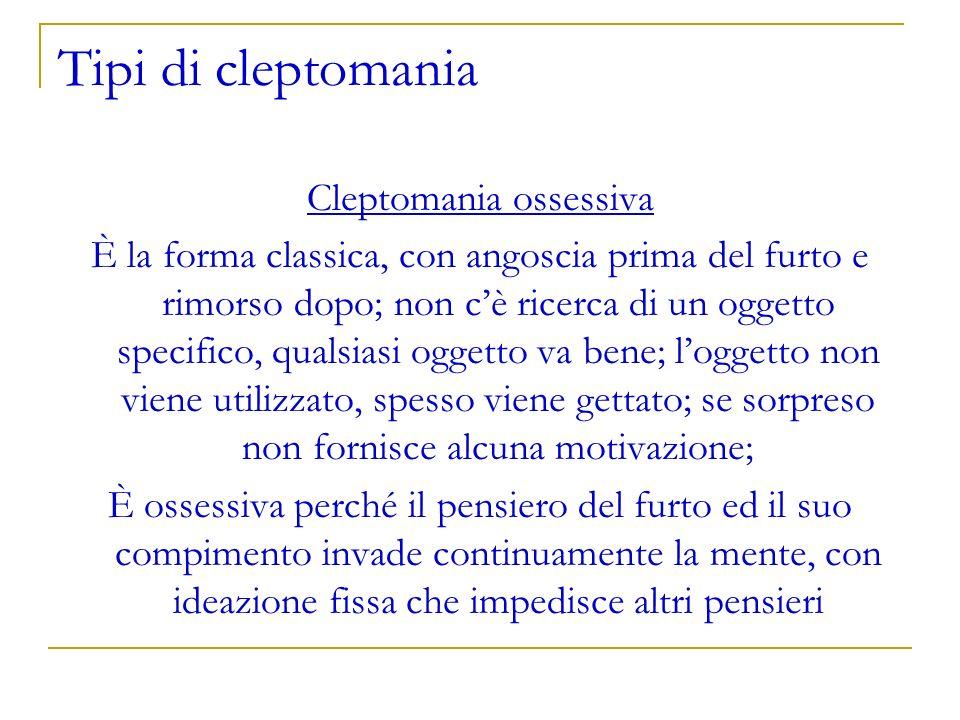Cleptomania ossessiva