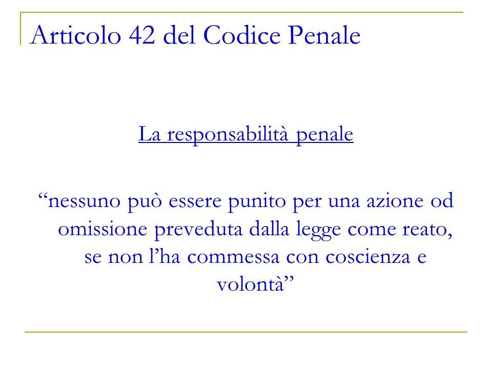 Articolo 42 del Codice Penale