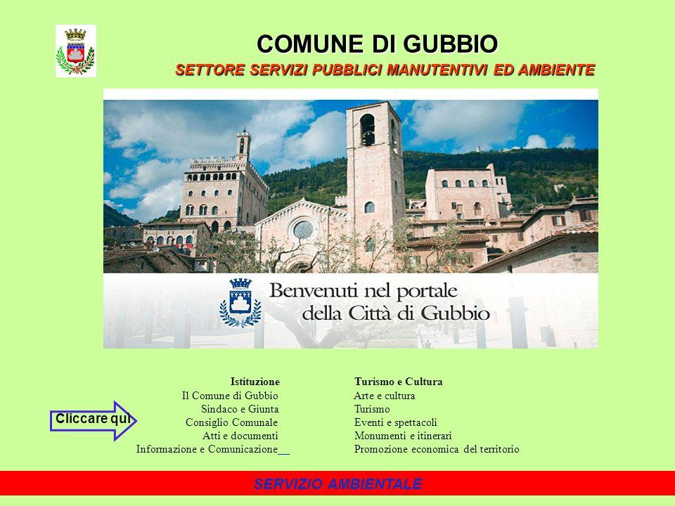 COMUNE DI GUBBIO SETTORE SERVIZI PUBBLICI MANUTENTIVI ED AMBIENTE