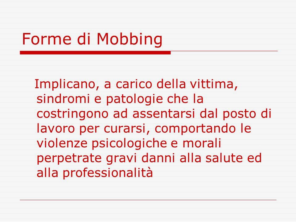 Forme di Mobbing