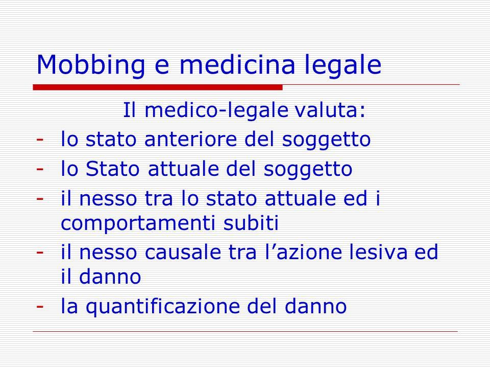 Mobbing e medicina legale