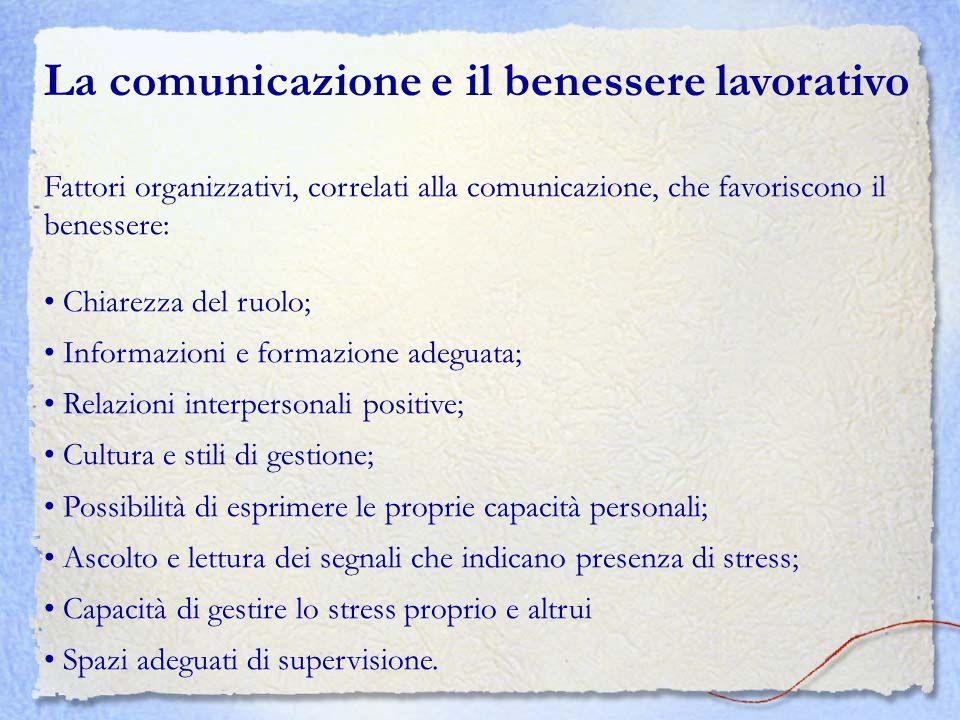 La comunicazione e il benessere lavorativo