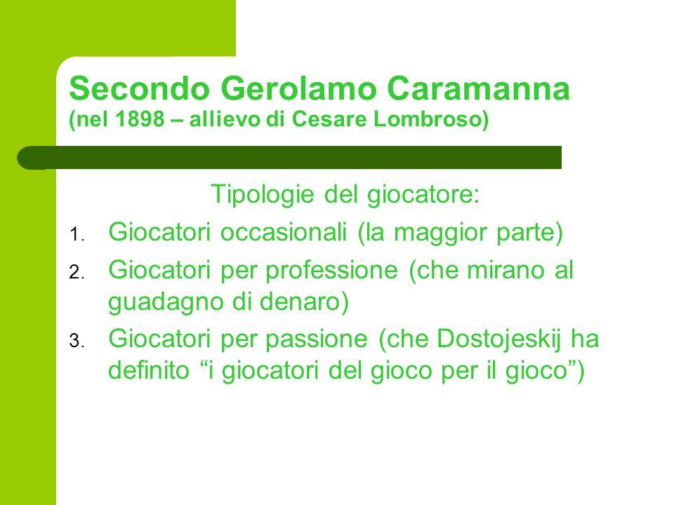 Secondo Gerolamo Caramanna (nel 1898 – allievo di Cesare Lombroso)