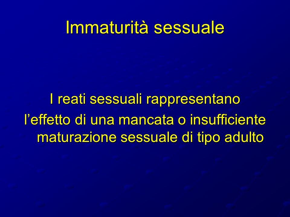 I reati sessuali rappresentano