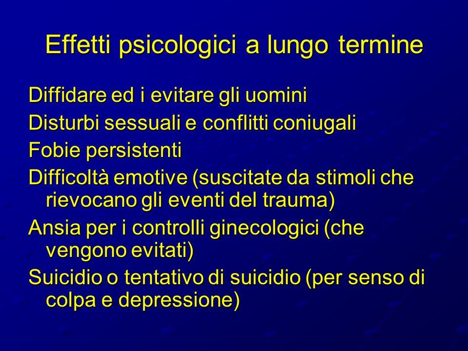 Effetti psicologici a lungo termine