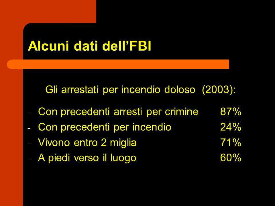 Gli arrestati per incendio doloso (2003):
