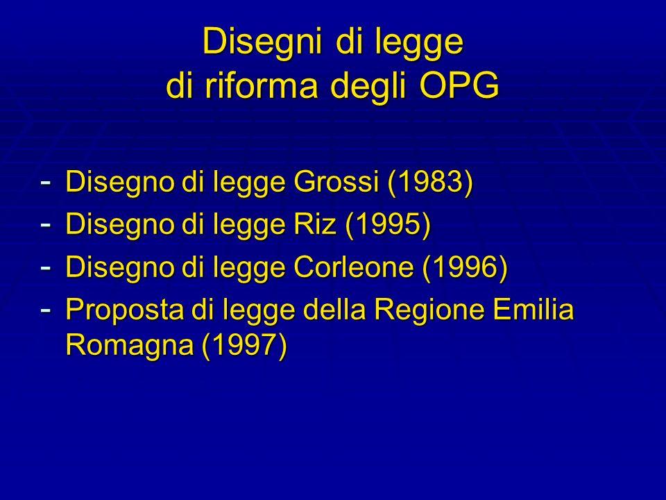 Disegni di legge di riforma degli OPG