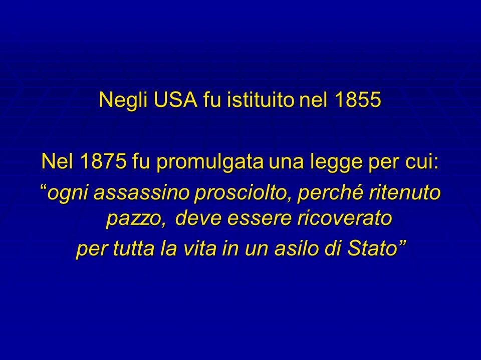 Negli USA fu istituito nel 1855