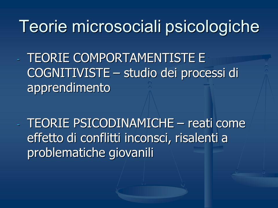 Teorie microsociali psicologiche