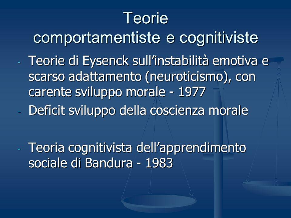Teorie comportamentiste e cognitiviste